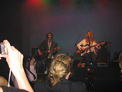 Dino Meneghin and Liz Phair at Global Green USA Oscar Party, March 3, 2006