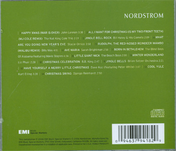A Nordstrom Modern Holiday back cover