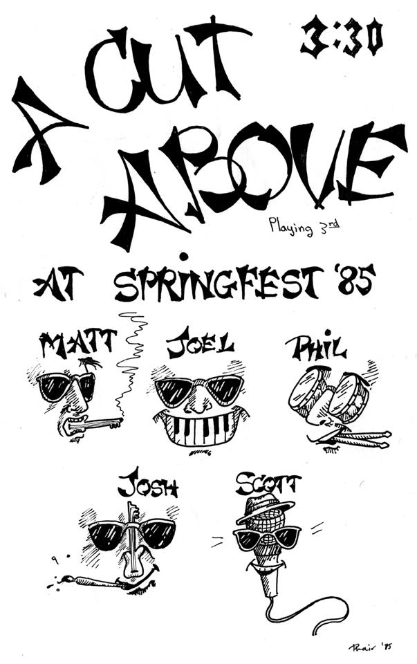 A Cut Above Poster (Spring, 1985) by Liz Phair