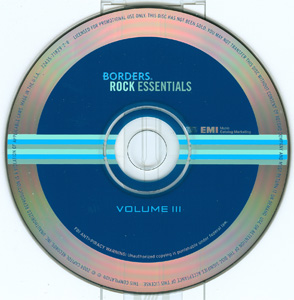 Borders Rock Essentials Volume III disc