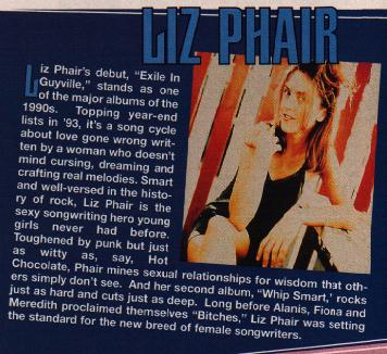 Liz Phair and other Matador acts offered through Columbia House