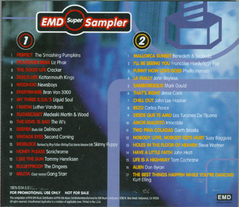 EMD Super Sampler back cover