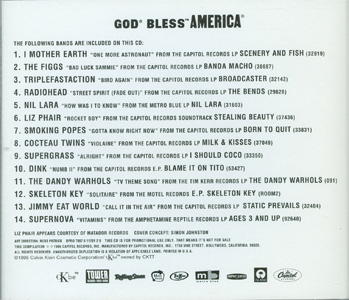 God Bless America back cover