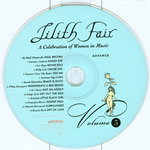 Lilith Fair - A Celebration of Women in Music Volume 2 & Volume 3 Advance Double CD disc 2