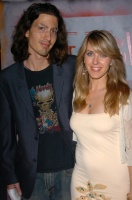 Liz Phair and Dino Meneghin at 'Elmer Ave. vs. The World' fashion event presented by Flaunt Magazine, Quixote Studios, Hollywood, CA, May 13th, 2005 - Photo credit: DailyCeleb.com