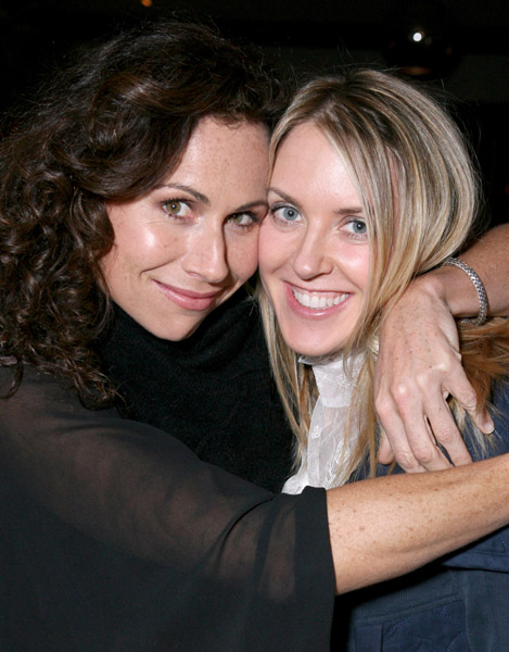 Minnie Driver and Liz Phair at Esquire House 360 in Beverly Hills for the Annual Cocktail Party for Oxfam, November 29, 2006 -- A. Wyman / WireImage