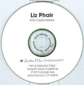 Liz Phair Sony / ATV Music Publishing advance cd disc