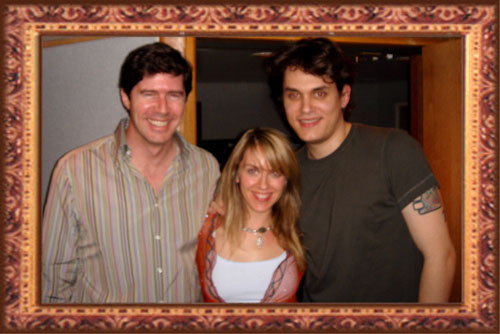 Producer John Alagia, Liz Phair, John Mayer stopped by to say 'hi' at Village Recording Studios in Los Angeles, CA