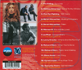 Mix 106.5 Today's Best Mix Volume 6 back cover