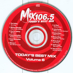 Mix 106.5 Today's Best Mix Volume 6 disc