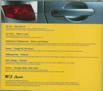 MTV2 Spankin' New Music 2002 Edition! back cover