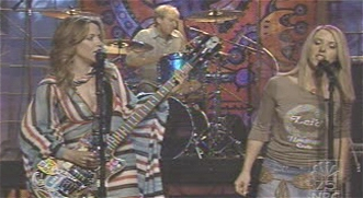 Liz Phair and Sheryl Crow on the Tonight Show, April 25th, 2002