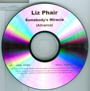Somebody's Miracle (Advance) disc