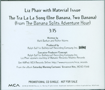 The Tra La La Song (One Banana, Two Banana) back cover