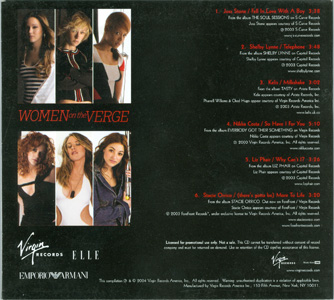 Women On The Verge back cover